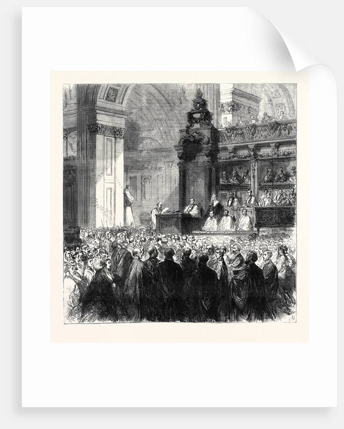 Enthronement of the Bishop of London in St. Paul's Cathedral London UK 1869 by Anonymous
