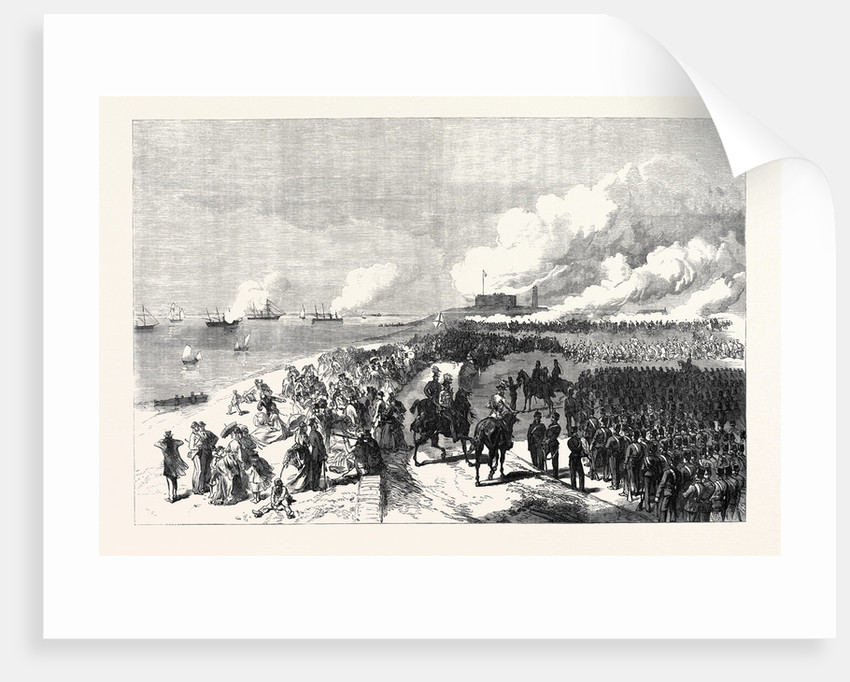 The Volunteer Review at Portsmouth: Attack on Southsea Castle UK 1869 by Anonymous