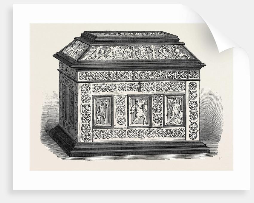 Byzantine Casket of Bonework Set in Ebony by Anonymous