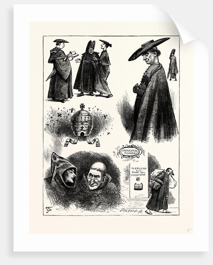 Charles Dickens Pictures from Italy 1846 Priest and Monk. by Anonymous