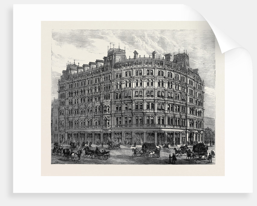 The New Grand Hotel Charing Cross (on the Site of Northumberland House)  London 1880