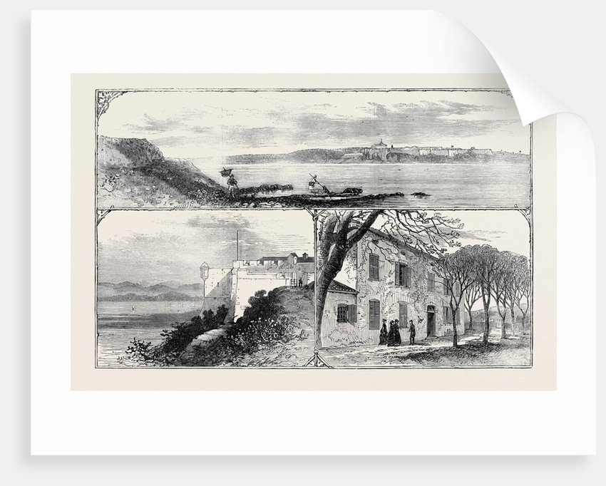 The Island and Fort of St. Marguerite the Prison of Ex-Marshal Bazaine 1874 by Anonymous