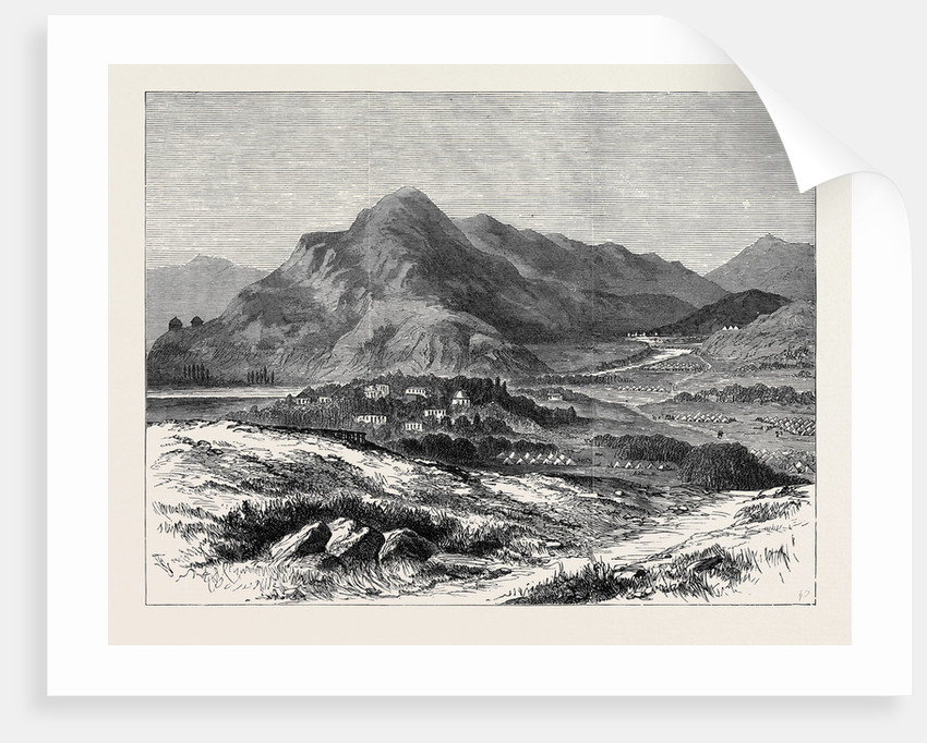 The War in Afghanistan: Thull with the Camp of General Roberts and Fort of Kapiyanga Khoorum Pass 1879 by Anonymous