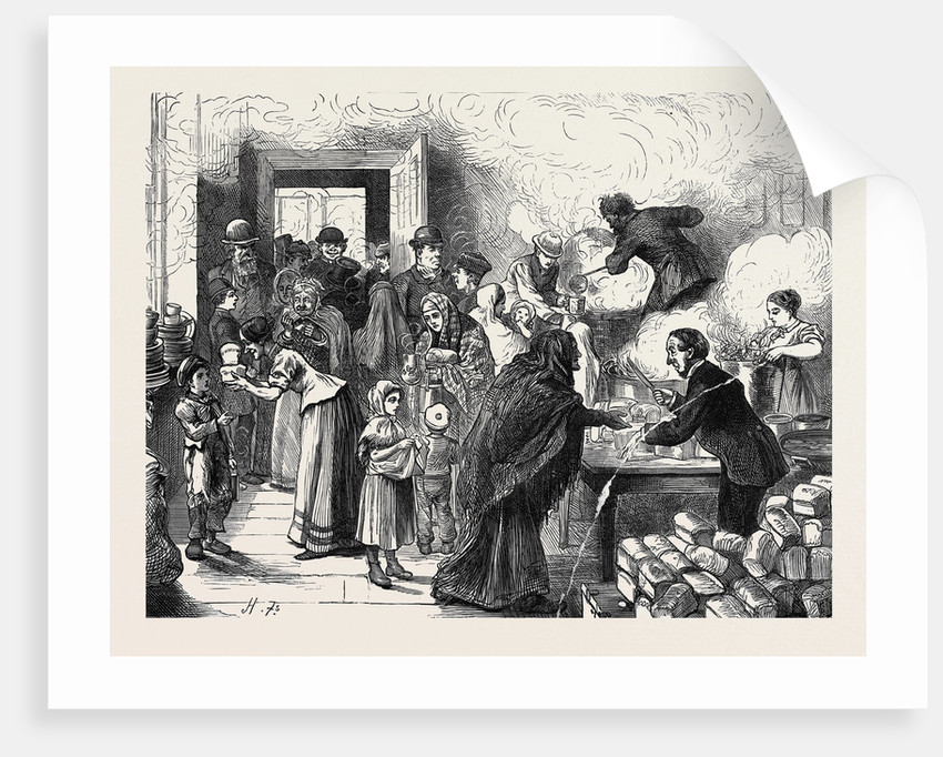 The Distress at Sheffield: Distributing Soup at Brightside 1879 by Anonymous