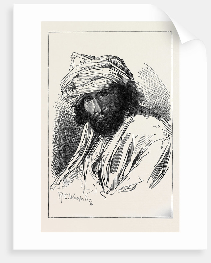 The War in Afghanistan: Men of Different Afghan Tribes: Jehandad (Lohanir) from Ghuzni 1879 by Anonymous