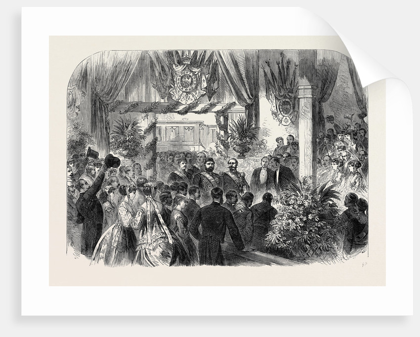 Arrival of the Sultan of Turkey at Paris: The Emperor Napoleon and the Sultan at the Lyons Railway Station France 1867 by Anonymous