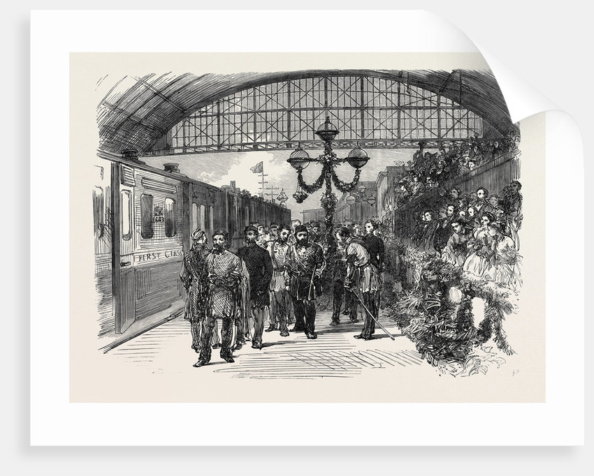 Arrival of the Sultan at the Charing Cross Terminus of the South Eastern Railway London UK 1867 by Anonymous