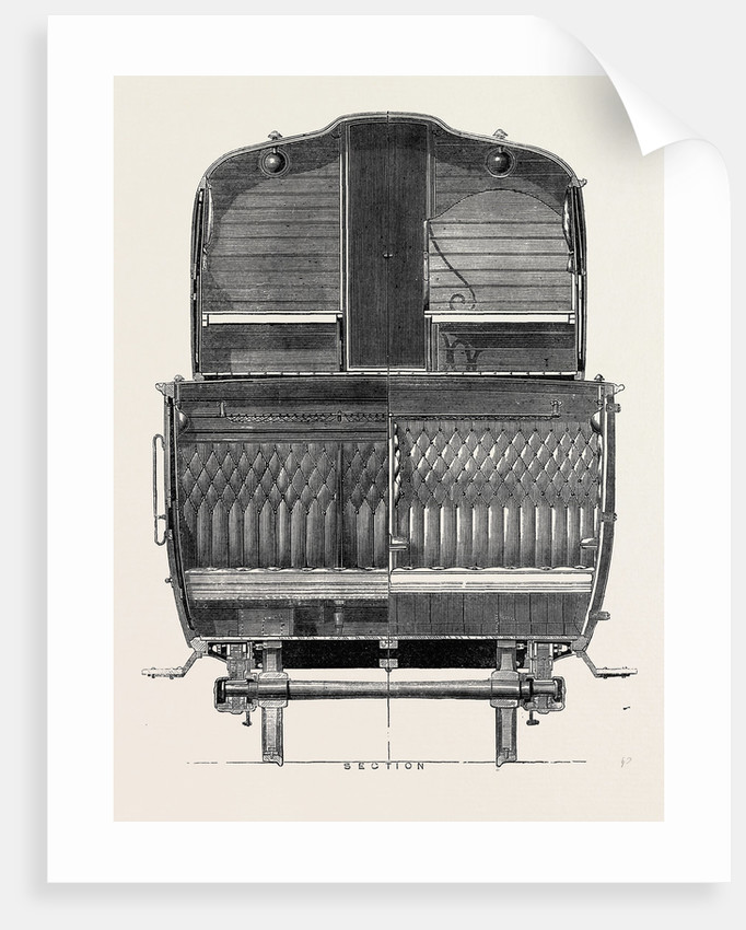 The Paris International Exhibition: Section of Double-Storied Carriage on the Eastern of France Railway 1867 by Anonymous