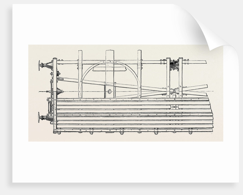 The Paris International Exhibition: Vidard's Articulated Truck for Conveying Lengthy Goods on Railways with Sharp Curves France 1867 by Anonymous