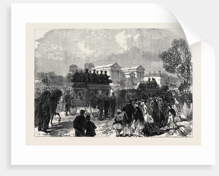 Funeral of Sergeant Brett the Police Officer Killed by the Fenians at Manchester UK 1867 by Anonymous