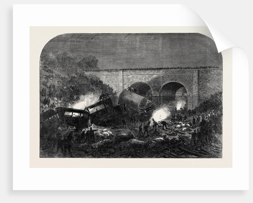 The Fatal Accident at New Mills on the Peak Forest Line of the Midland Railway UK 1867 by Anonymous