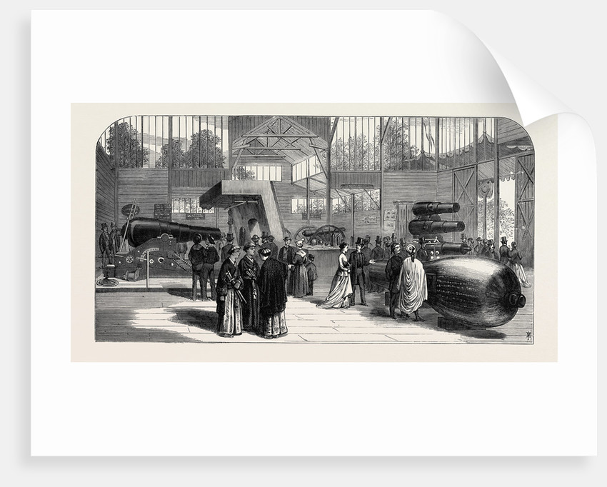 The Paris International Exhibition: Munitions of War Exhibited in the British Section of the Park by Anonymous