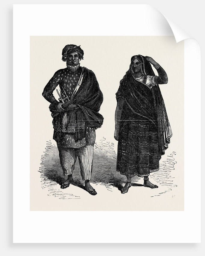 The Paris International Exhibition: Indian Costumes France 1867 by Anonymous