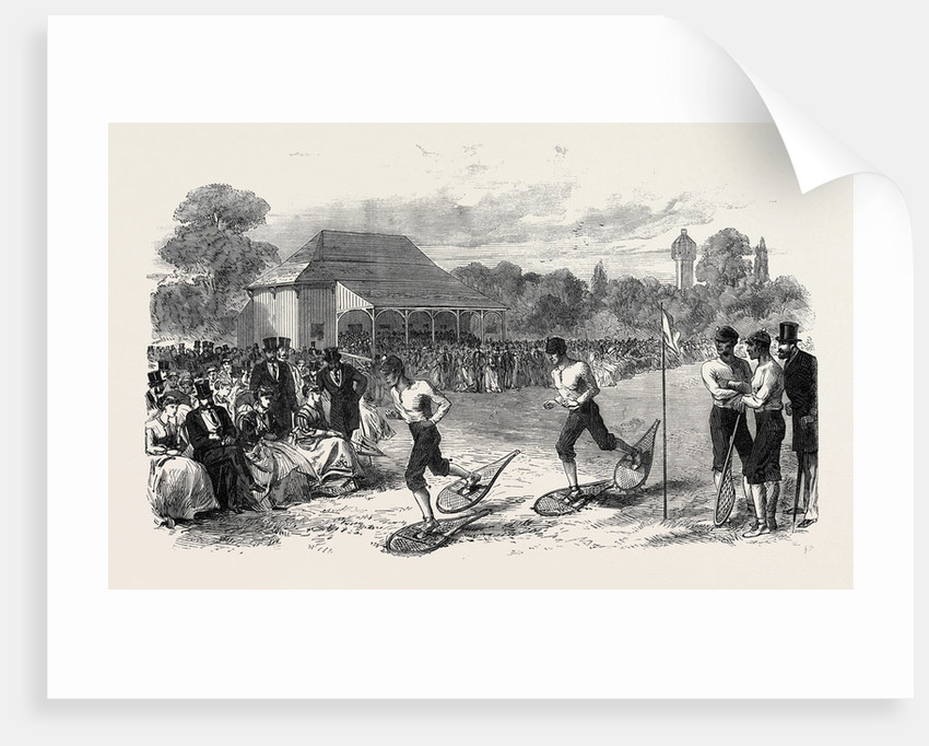 Snow-Shoe Race at the Crystal Palace 1867 by Anonymous