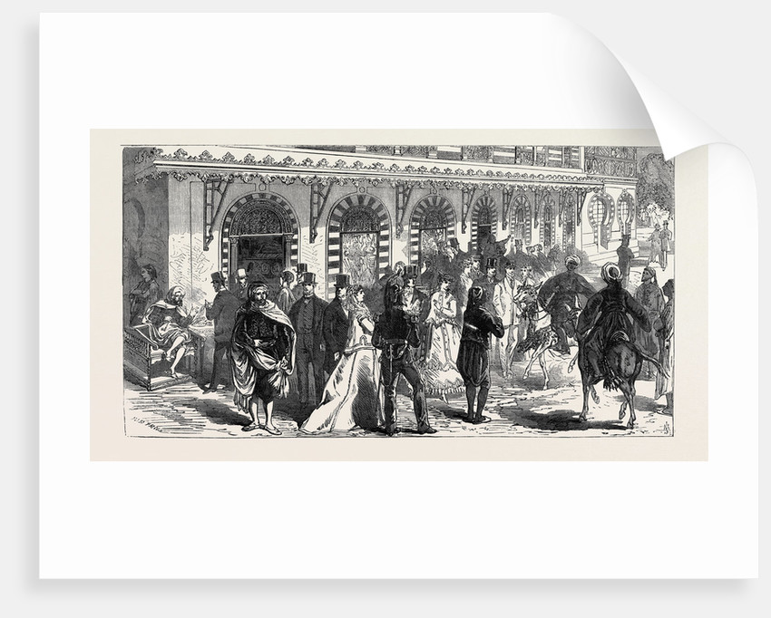 Row of Shops Beneath the Palace of the Bey of Tunis 1867 by Anonymous