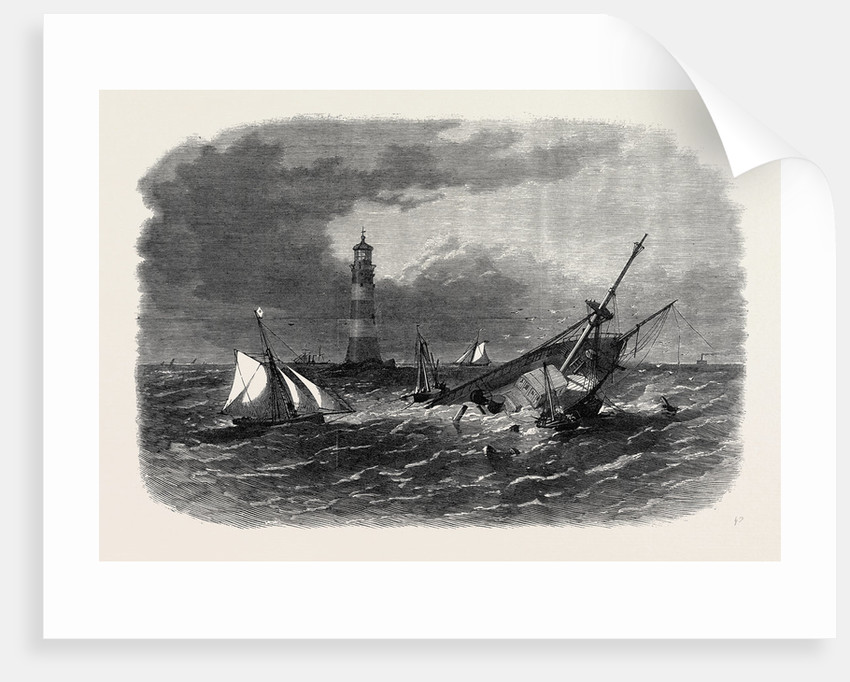 Wreck Op the Screw Steamship Hiogo on the Eddystone Rocks 1867 by Anonymous