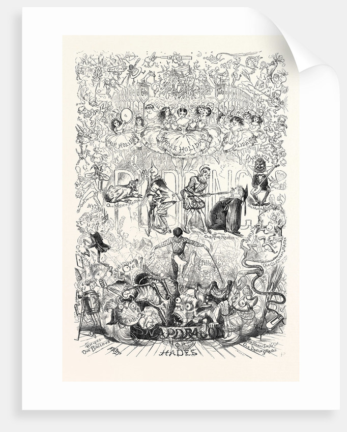 The Schoolboy's Notion of What a Christmas Pantomime Ought to Be 1867 by Anonymous