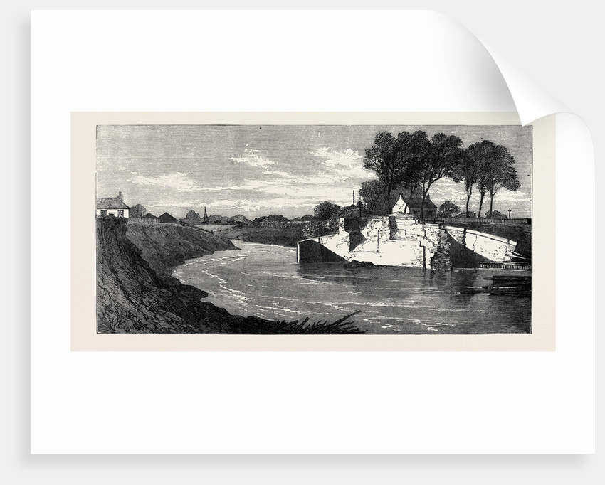 The Inundations in the Fens: The Blown Sluice at the Marshland Drain 1862 by Anonymous