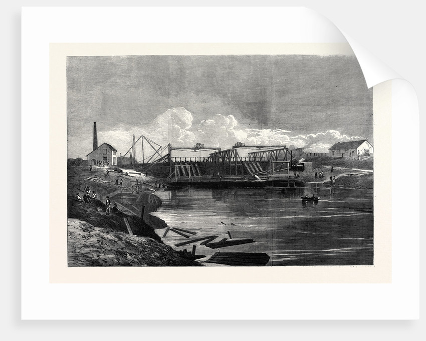 The Inundations in the Fens: The Syphon Dam of the Middle-Level Drain 1862 by Anonymous