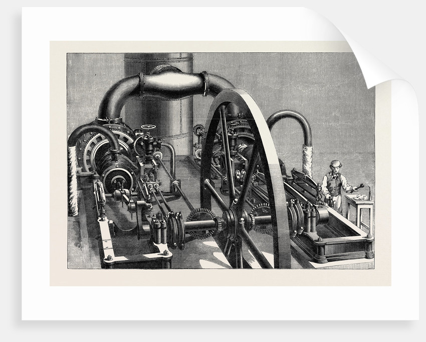 The International Exhibition: Blowing-Engine in the Belgian Department of the Western Annexe 1862 by Anonymous
