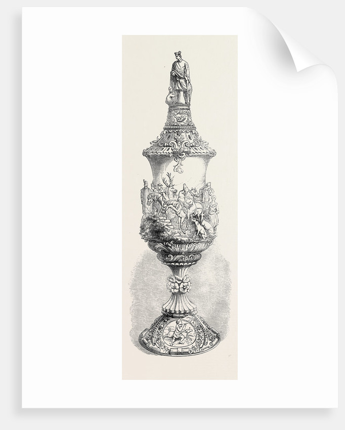 The International Exhibition: Carved Ivory Cup, in the Zollverein Department 1862 by Anonymous