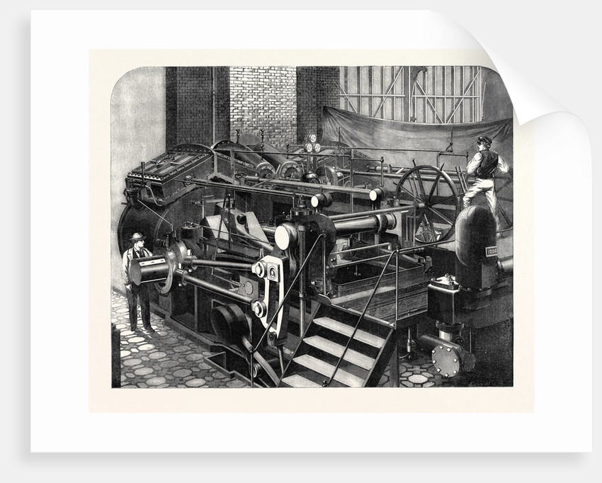 The International Exhibition: Messrs. Maudslay's Engines of 800 Horse Power for the Valiant 1862 by Anonymous