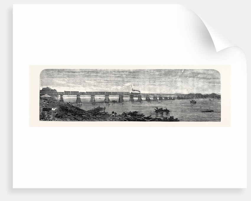 Viaduct Over the Taptee Near Surat for the Bombay Baroda and Central India Railway 1862 by Anonymous
