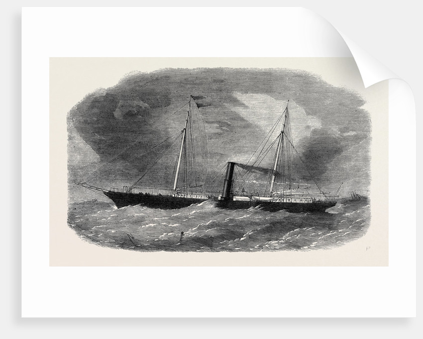 Dudgeon's New Double Screw Iron Steamship Flora 1862 by Anonymous