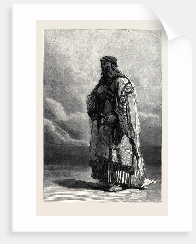 Miguel El Musrab Sheikh of the Anazeh Tribe, in the Winter Exhibition of the Water Colour Society 1862 by Anonymous