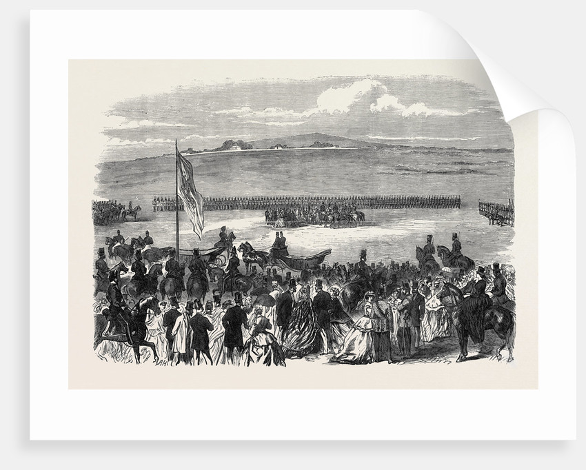 The Countess of Kimberley Presenting New Colours to the 24th Regiment at the Curragh of Kildare 1866 Ireland by Anonymous