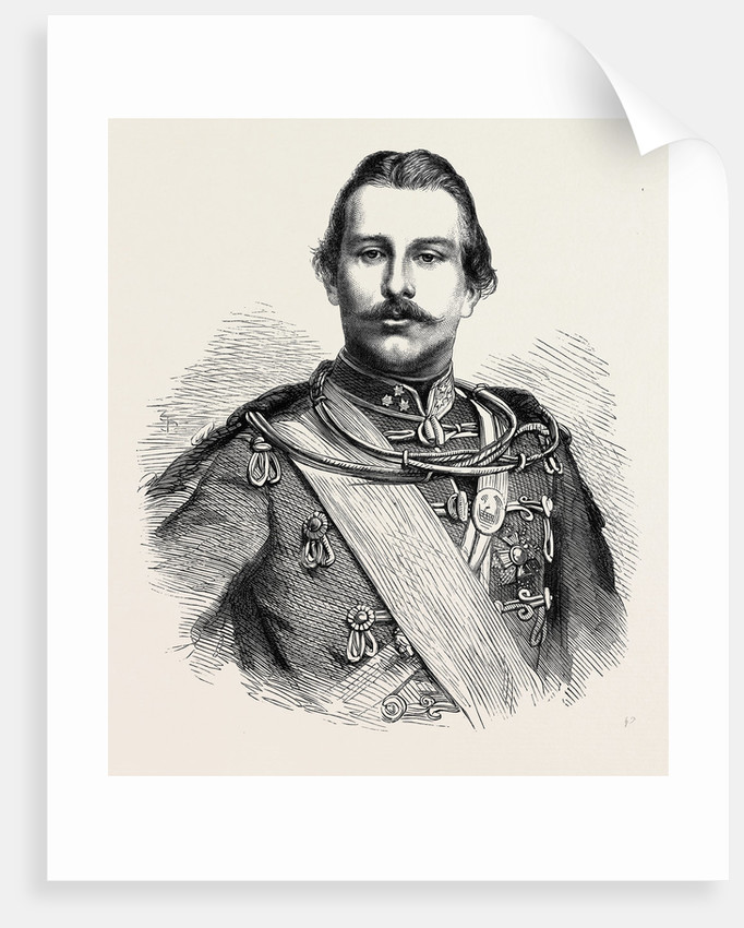H.S.H. Prince Teck 1866 by Anonymous