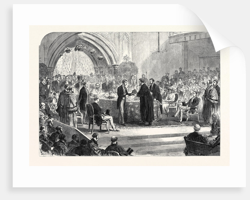 Presentation of the Freedom of the City of London to the Duke of Edinburgh at Guildhall UK 1866 by Anonymous