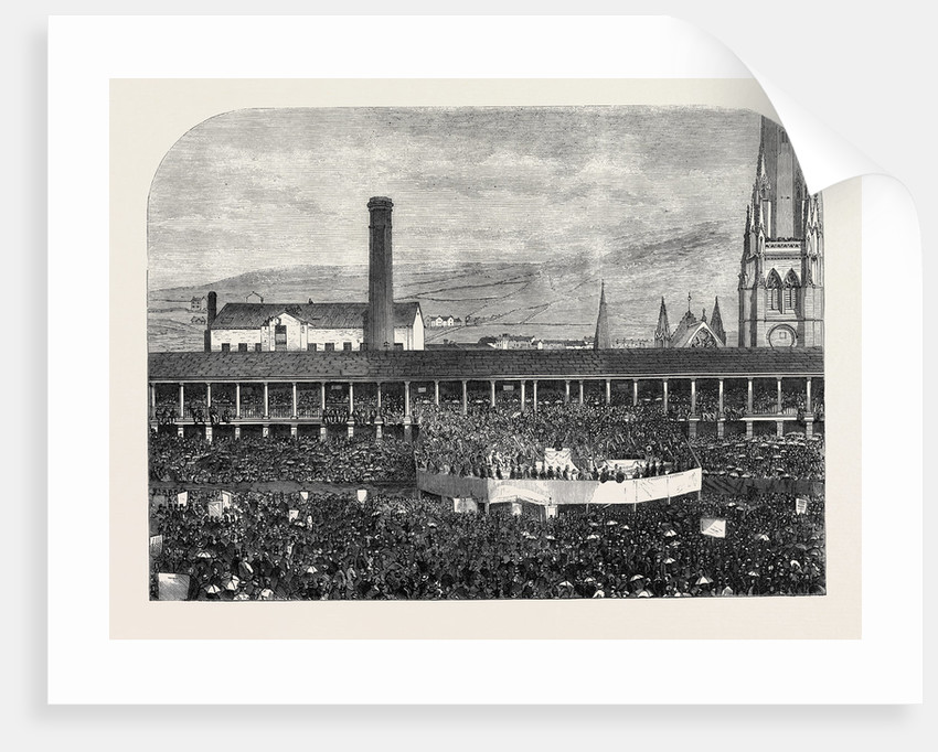 Sunday-School Jubilee Commemoration in the Piece Hall Halifax UK 1866 by Anonymous