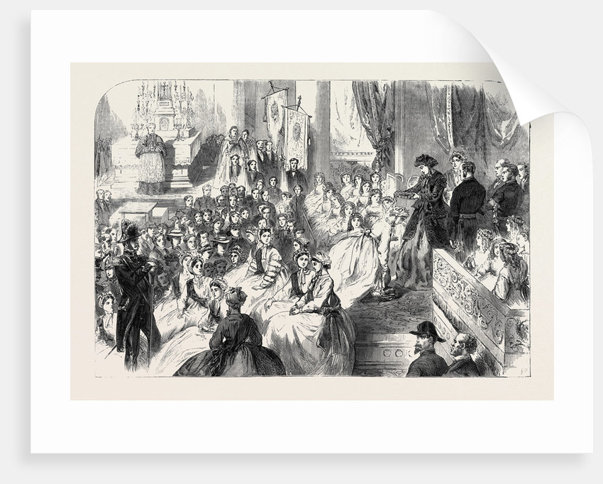Annual Ceremony of Crowning the Rosiere at Nanterre Near Paris France 1866 by Anonymous