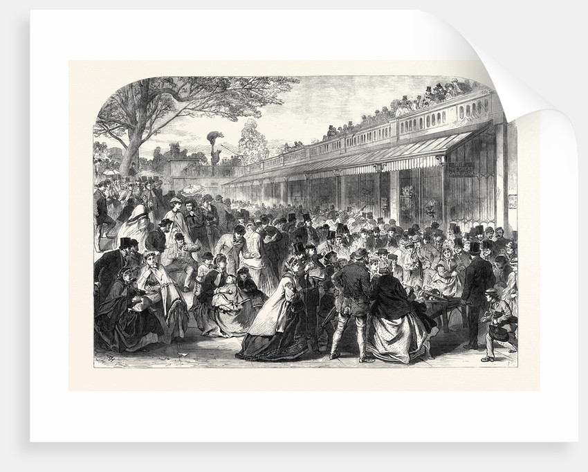 The Gardens of the Zoological Society Regent's Park London UK on Whit Monday 1866 by Anonymous