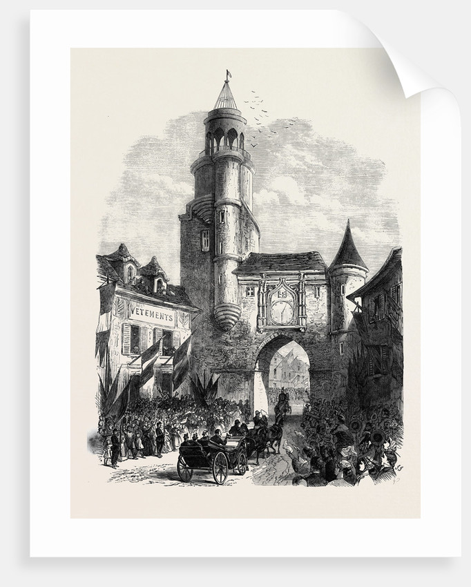 Arrival of the Emperor and Empress of the French at Auxerre France 1866 by Anonymous