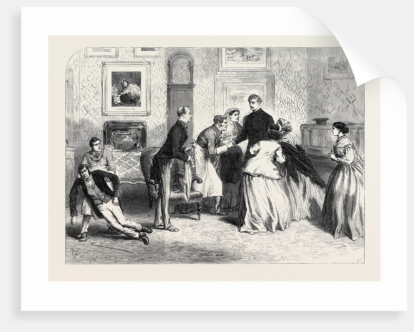 Scene from One Hundred Thousand Pounds at the Prince of Wales Theatre UK 1866 by Anonymous
