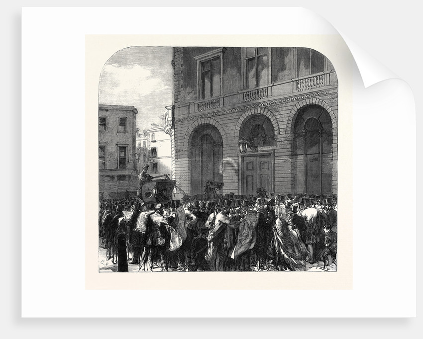 Black Friday the Monetary Panic in the City: Scene in Lombard Street 11 May UK 1866 by Anonymous