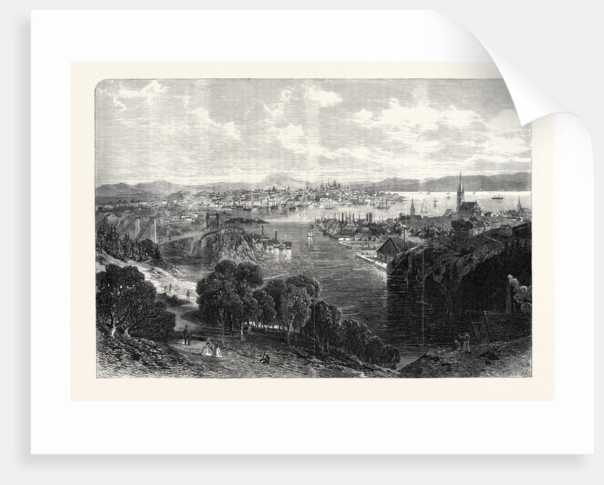 The Town and Harbour of St. John New Brunswick 1866 by Anonymous