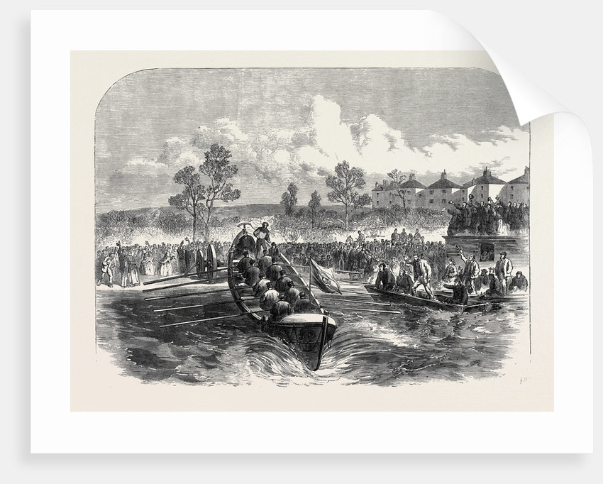 Launch of the Isis Lifeboat at Oxford UK 1866 by Anonymous