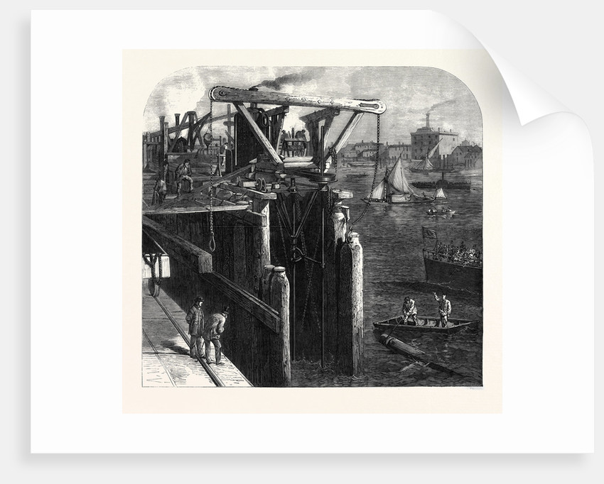 Progress of the Thames Embankment: Cutting the Piles which Form the Cofferdam UK 1866 by Anonymous