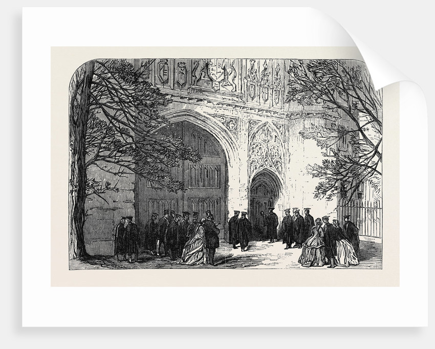 Installation of the New Master of Trinity College Cambridge: The Master Knocking for Admittance UK 1866 by Anonymous