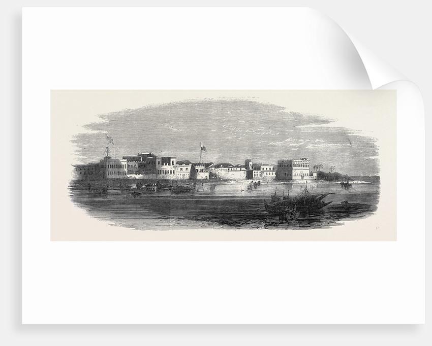 Shangany the European Quarter of Zanzibar 1866 by Anonymous