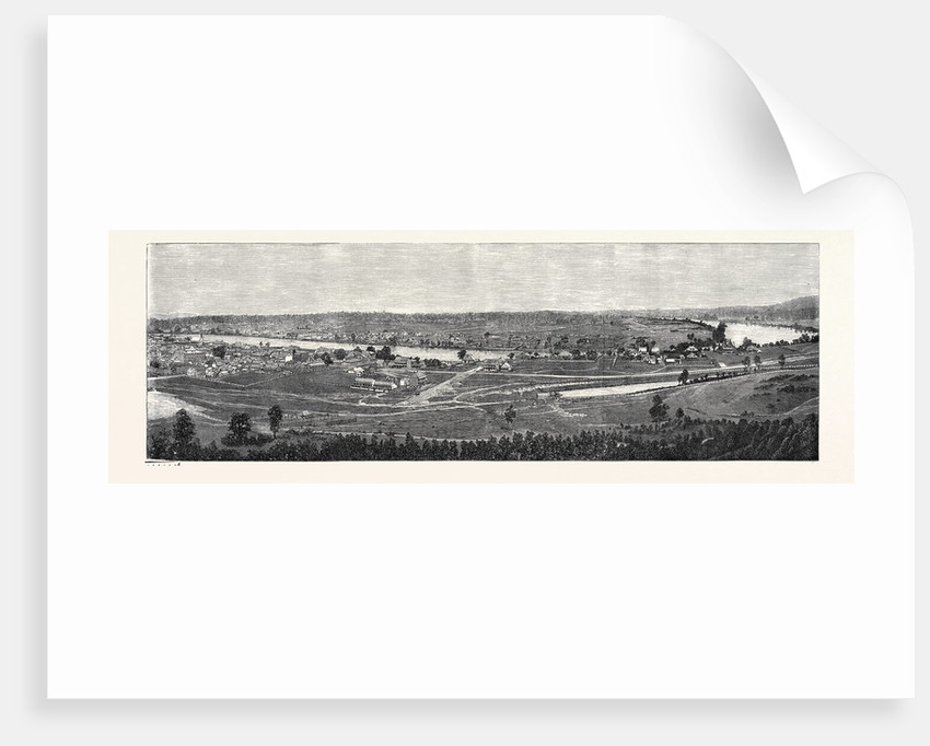 Brisbane the Capital of Queensland Australia 1866 by Anonymous
