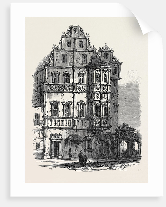 Bamberg the Bishop's Palace Germany 1866 by Anonymous