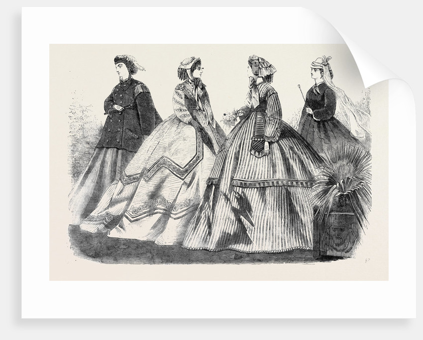 Paris Fashions for April France 1866 by Anonymous