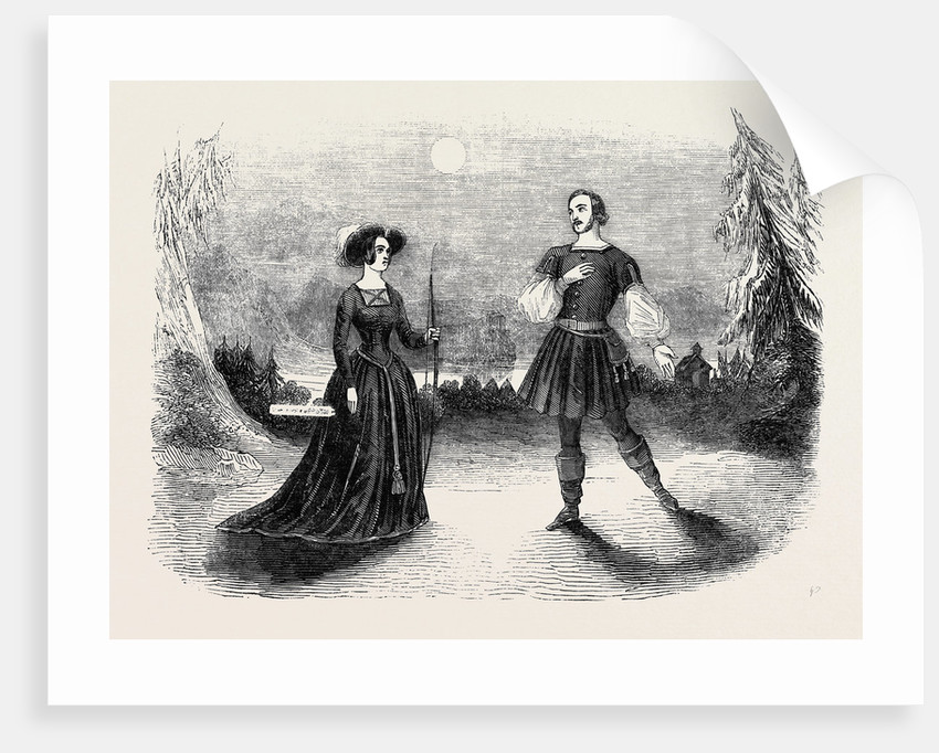 Miss Romer, in the Opera of Guillaume Tell, at Drury-Lane Theatre by Anonymous