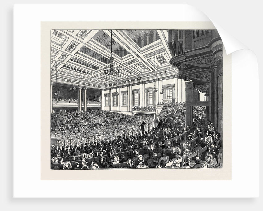 May Meetings in the Metropolis, Interior of Exeter Hall by Anonymous