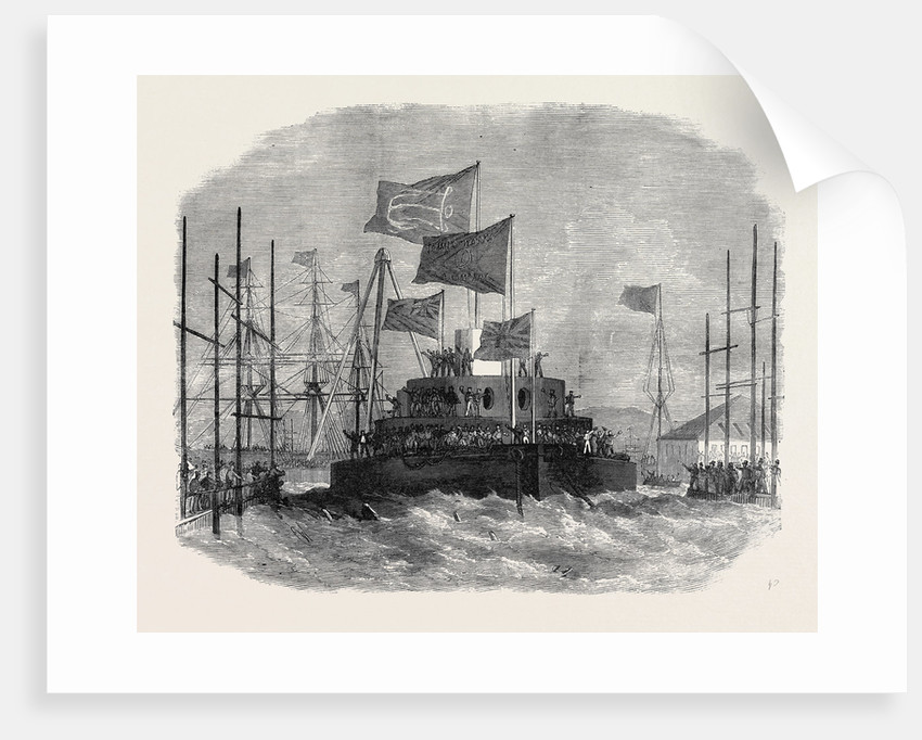 Launch of H.M.S. Cyclops at Blackwall 1871 by Anonymous