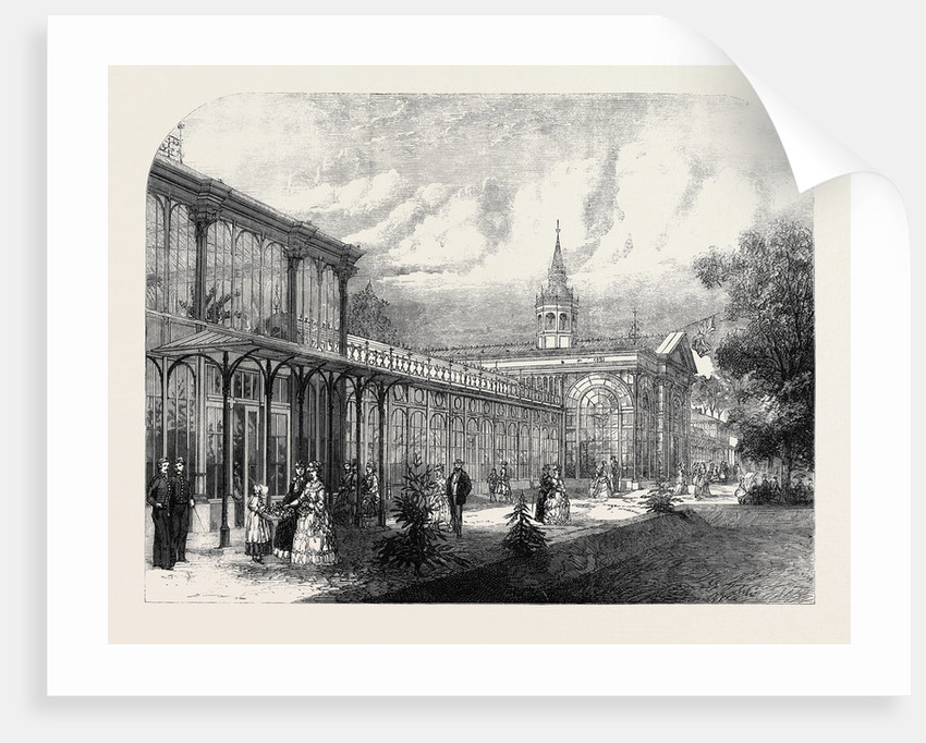 The Pavilion in the Public Gardens Buxton 1871 by Anonymous